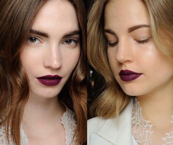 Идеи макияжа с темной помадой на фото