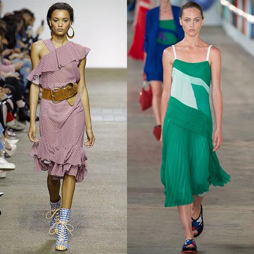 Модный крой платьев весна лето 2017