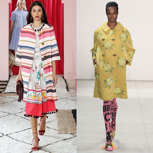 Модные пальто весна 2017