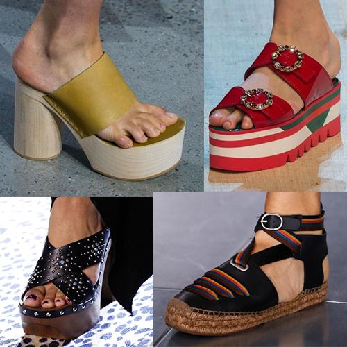 Тенденции обувной моды лето 2017
