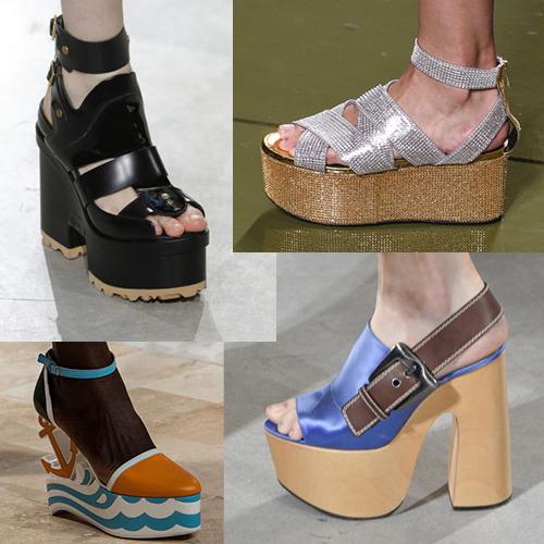 Моднпя обувь на платформе, лето 2017, фото