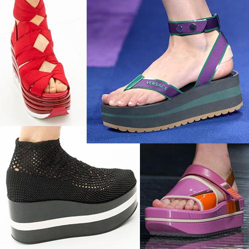 Модная обувь в спортивном стиле, лето 2017