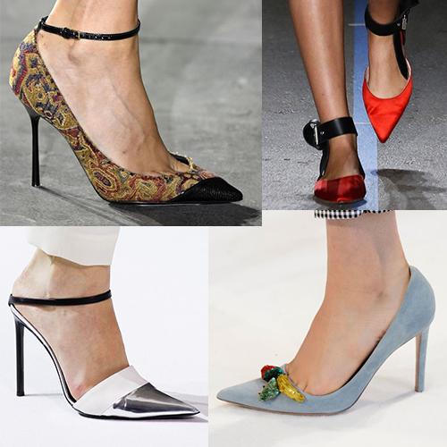 Модные туфли на каблуке, лето 2017