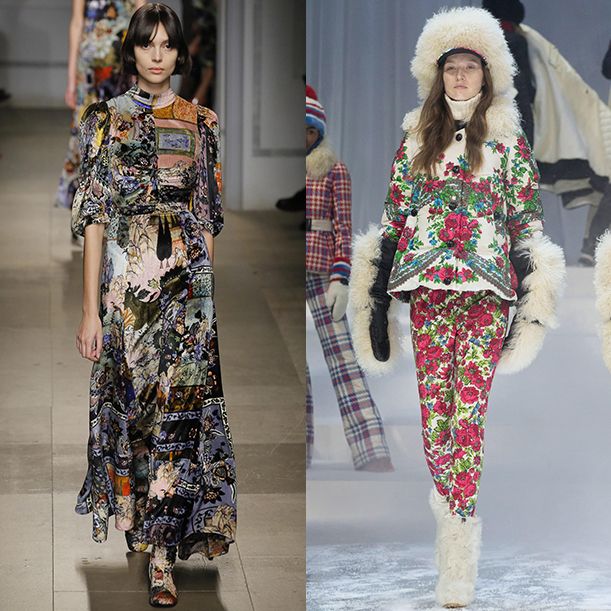 Модные цвета и принты в одежде осенью и зимой 2017-18