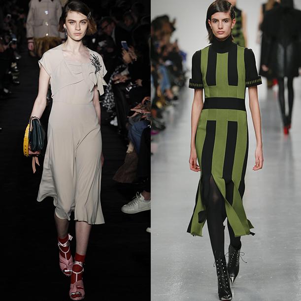 платья осень зима 2017 2018 модные тенденции