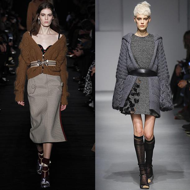 Модные вязаные кардиганы и свитера Осень Зима 2017 2018