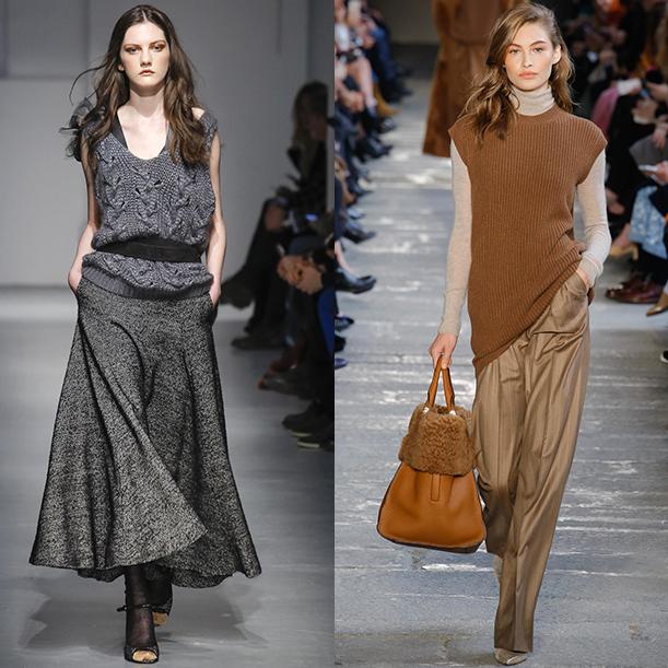 Модные вязаные жилеты осень зима 2017 2018