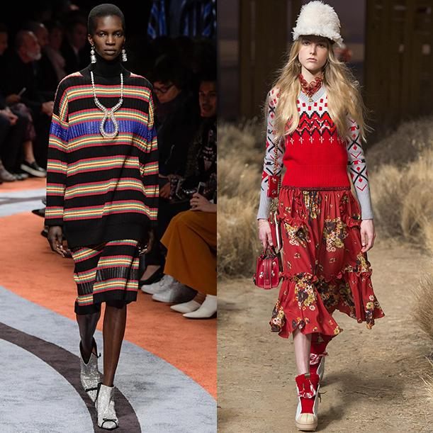 Модные вязаные свитера и кардиганы Осень зима 2017 2018