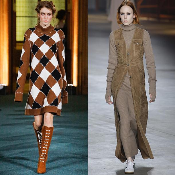 Модные вязаные платья. Осень зима 2017 2018