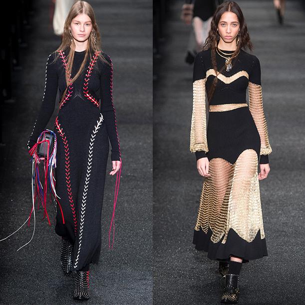 Модные вязаные платья Осень зима 2017 2018