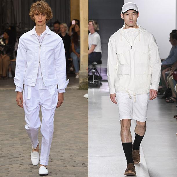 тенденции мужской моды весна лето 2018