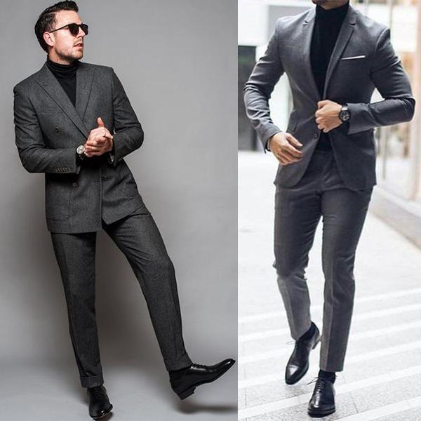 С чем носить черную водолазку мужчине?