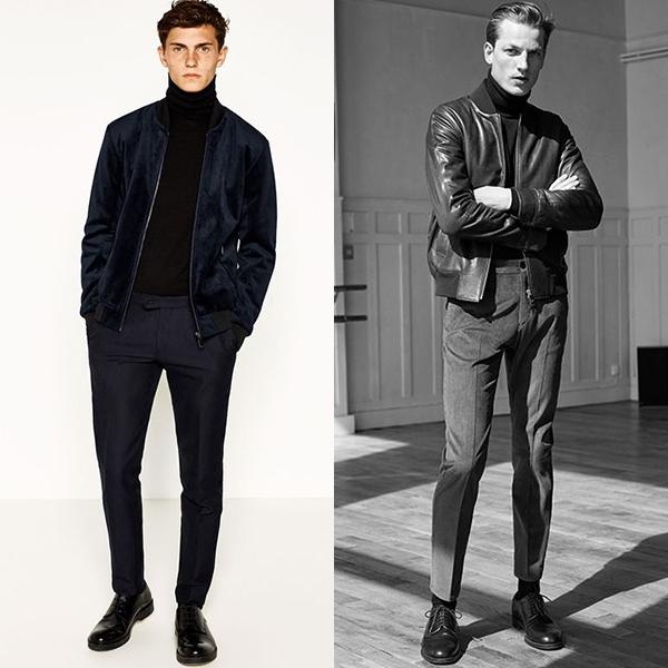 С чем носить водолазку или тонкий свитер мужчине?